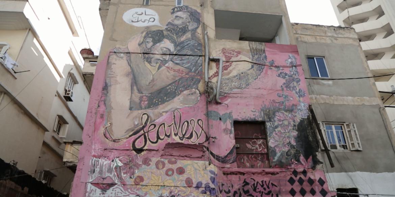 Street art in Beiroet (still uit Helem documentaire)