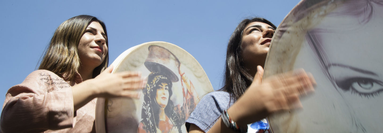 Fototentoonstelling yezidi-vrouwen