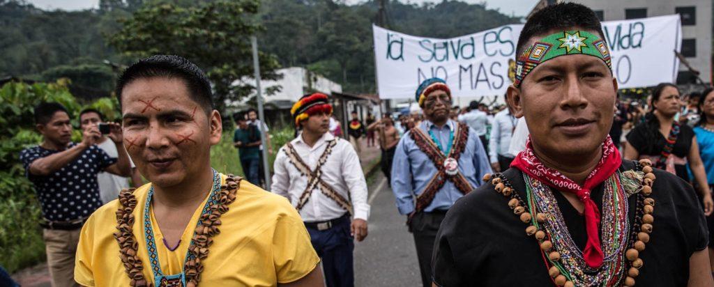 Hernan protest Amazone Ecuador - Hivos
