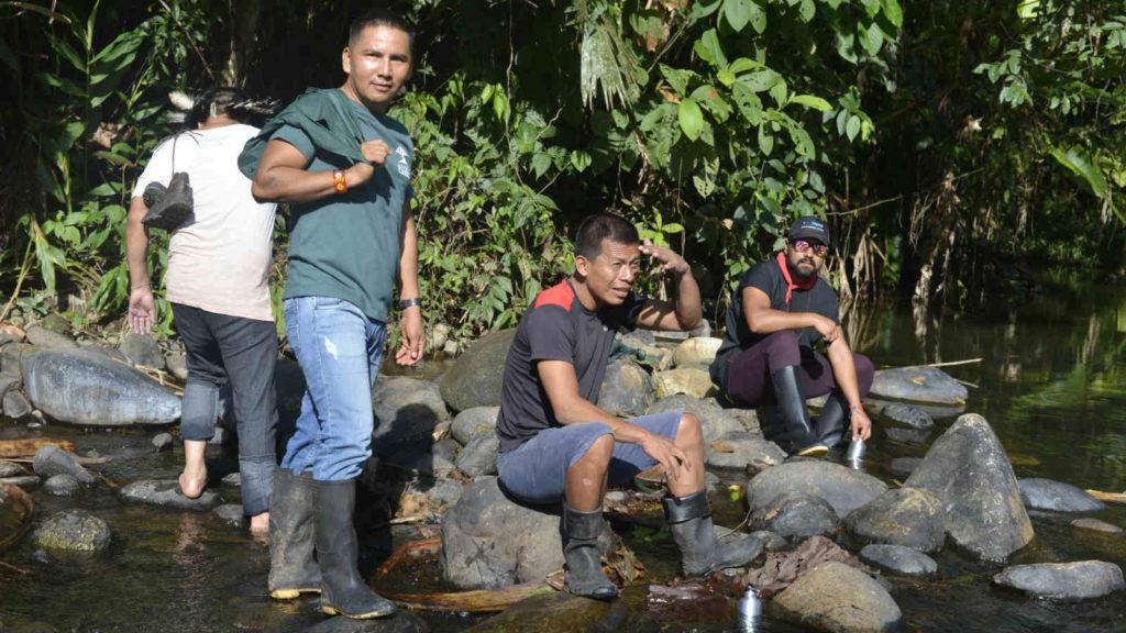 op bezoek in Ecuador