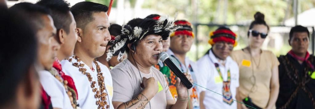 Inheemse leiders van het Amazonegebied waar het coronavirus een nieuwe bedreiging is