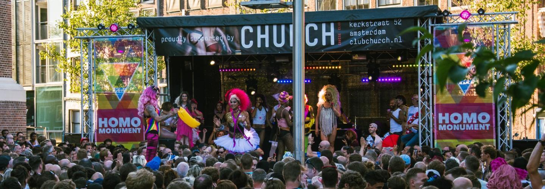Pride Amsterdam 2018 Homomonument Club Church
