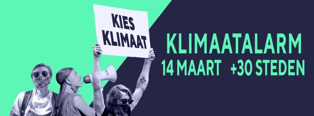klimaatmars tegen de klimaatcrisis